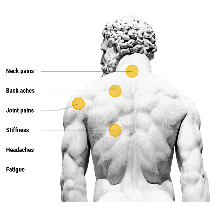 Back diagram of pains